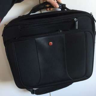Swisse Wenger black briefcase