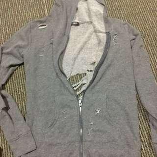 Ripped Hoodie Jacket