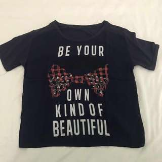 "ORI/Authentic ZARA ""Be your own kind of Beautiful""shirt"