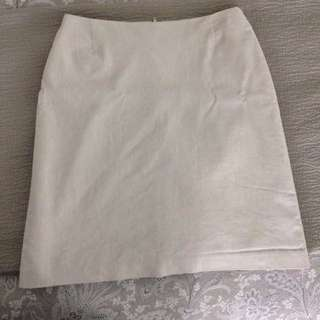 Size 8 Mini Skirt Cream Linen look