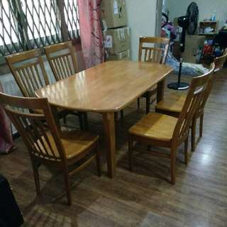 Used Solid Wood Dining Table