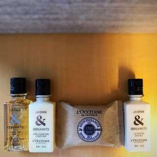L'OCCITANE 歐舒丹 shampoo, conditioner, body milk lotion and milk extra-gentle soap