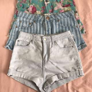 Low Waist Striped Shorts