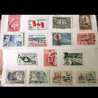 加拿大 舊式郵票