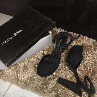 Marie Claire Black High Heels