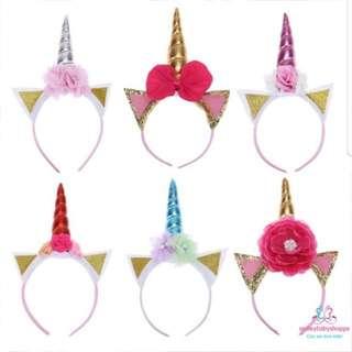 *IN STOCK @ $7.90!*Children Kids Head Wear Head Band Birthday Party Unicorn Theme