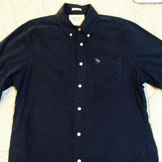 Abercrombie & Fitch Navy Blue Polo