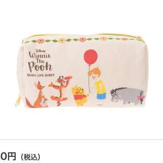 🇯🇵迪士尼-小熊維尼化妝包/筆袋