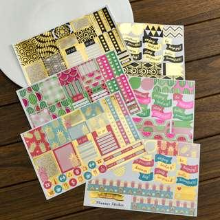 Planner Stickers (3 Designs) Nett Price