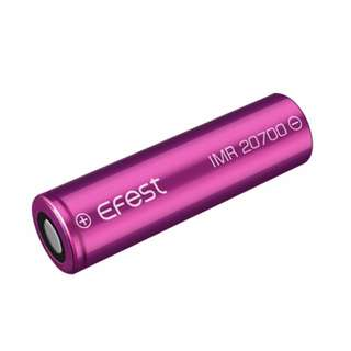 Efest IMR 20700 High-Drain 30A Continuous Discharge 3.7V 3000mAh Rechargeable Lithium Battery (Flat Top)