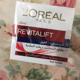 l'oreal revitalift night cream anti-wrinkle firming
