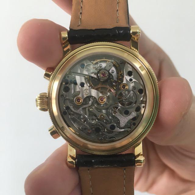 18K Yellow Gold Chronoswiss 7221 Column-Wheel Chronograph (Valjoux 726!)