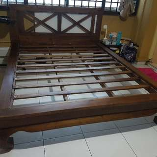 Solid Teakwood Queen Bed Frame