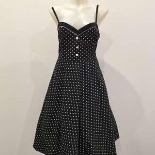 Chic Star Retro Vintage Polka Dot Dress Size XL 16-18