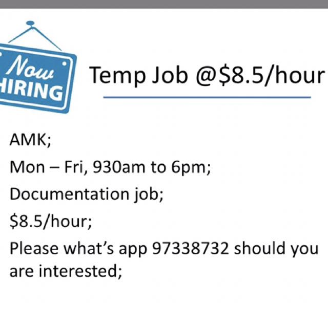 1 week temp job jobs internships others on carousell