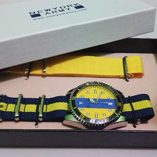 KONew York Army NYA210-3 Yellow Dial Multi-color Watch