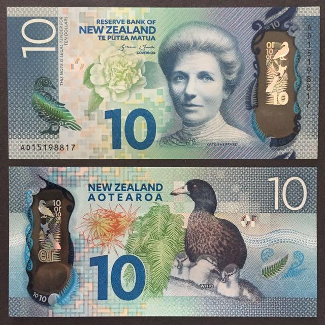 2015 NEW ZEALAND 10 DOLLARS POLYMER P-192 UNC