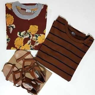 Steve Madden Sandals Size 37, Zara Top Size 8 & Stripe Top (Must Have) Size 8