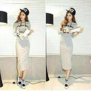Onhand Korean Hoodie Dress