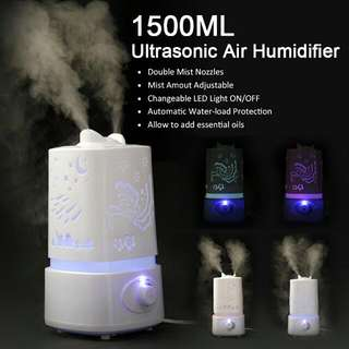 Air humidifier 1.5L With Auto Shut Off Feature