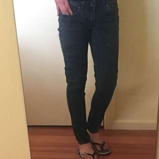 H&M washed Low Rise Skinny Jeans