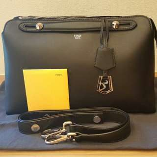 Fendi black large by the way Boston handbag