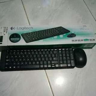 Keyboard Logitech MK215 (Wireless Combo)