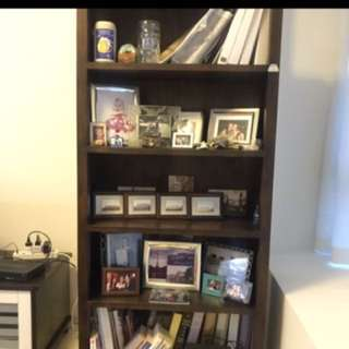 Solid Wood Display Bookshelf