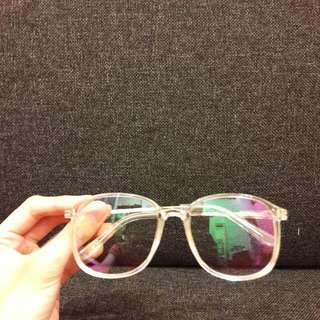 透明鏡框眼鏡