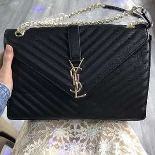 YSL Envelope Bag Black