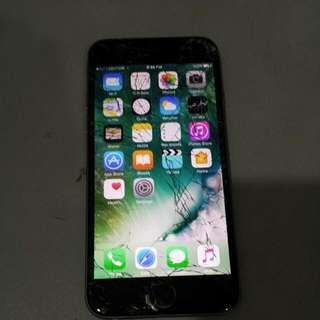 Iphone 6 16GB Space Grey Screen Crack