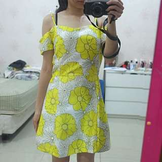 MDS floral yellow dress