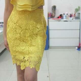 MARUFE yellow skirt