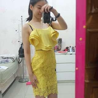 SET crop + skirt