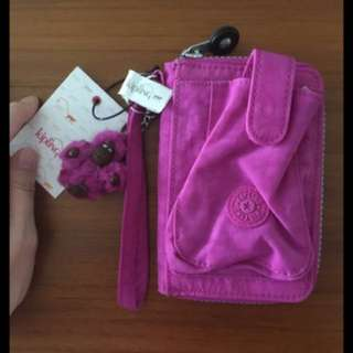 🚚 Kipling粉紅手機包