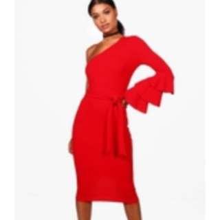 Brand new one shoulder boohoo dress