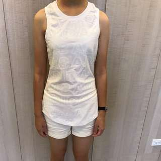 Adidas 女背心(白色/XL)
