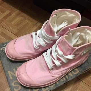 近新專櫃正品palladium粉紅高筒鞋