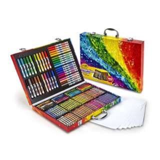 (Ready Stock)💯Brand New Sealed In Box Crayola Inspiration Art Case: Art Tools, 140 Pieces, Crayons, Colored Pencils, Washable Markers, Paper, Portable Storage