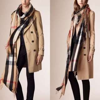 99% new Burberry scarf