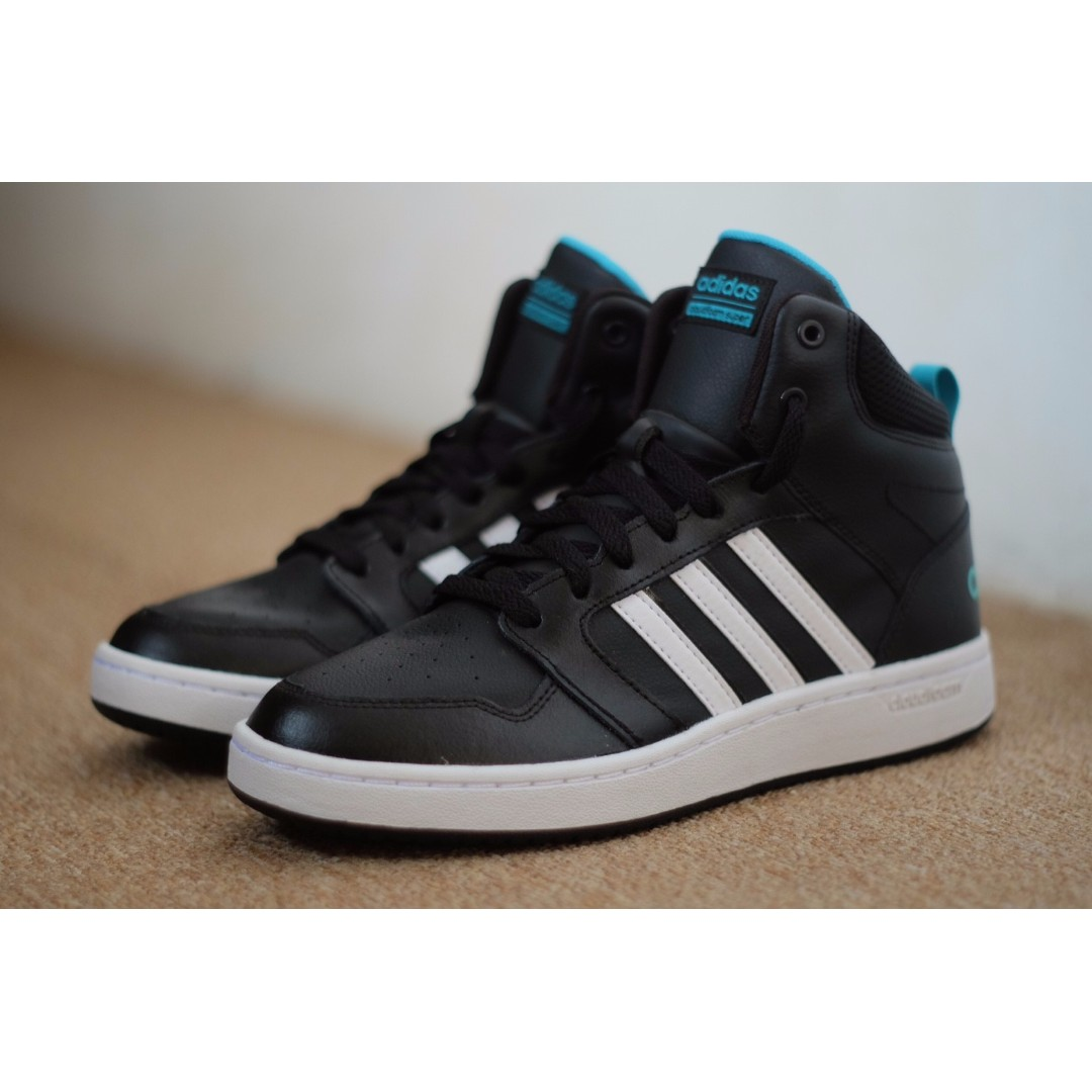 Adidas Cloudfoam Super Hoops Black White Mid Original 3e537a0645