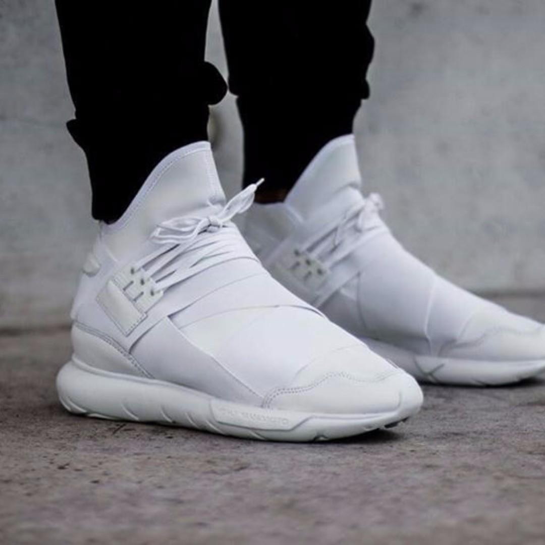 2ea94d2fa Adidas Y3 Qasa High All White