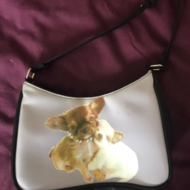 Adorable mini puppy handbag