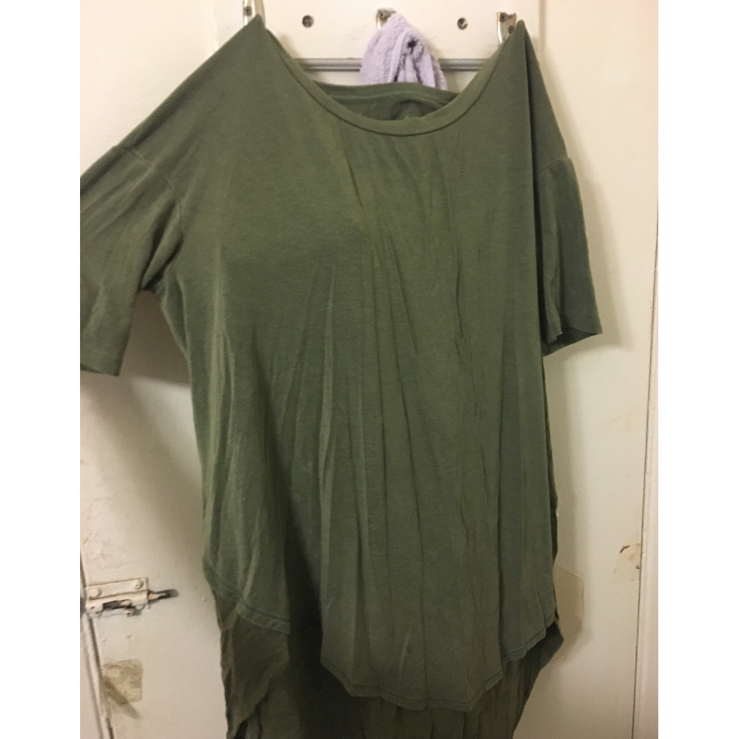 AE, soft and sexy, green long shirt