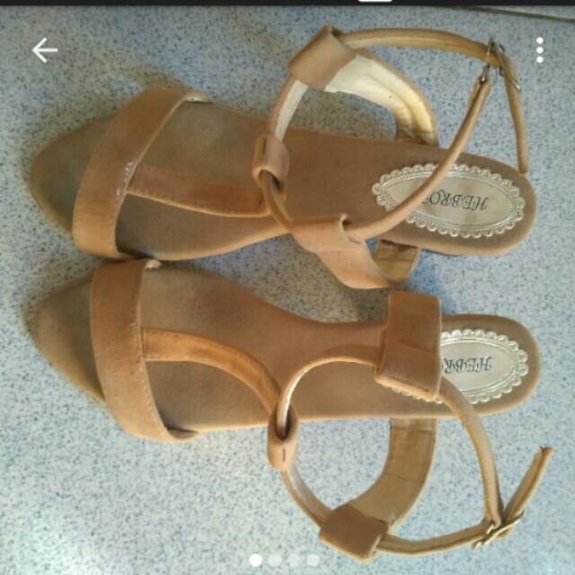 Ankle Strap Nude Heels