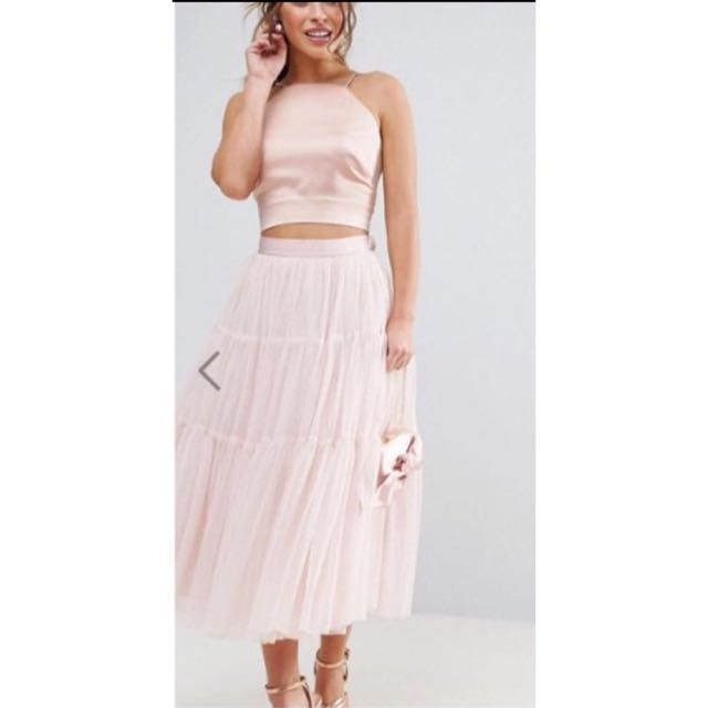 🆕Asos Mesh Tiered Midi Skirt