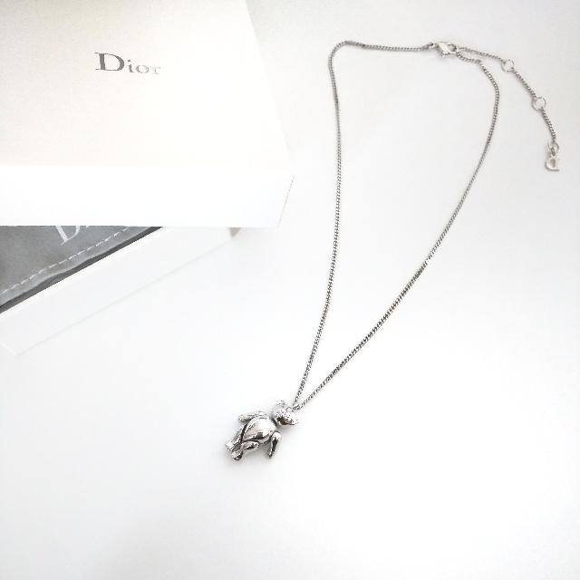 [Authentic] Christian Dior Teddy Bear Necklace