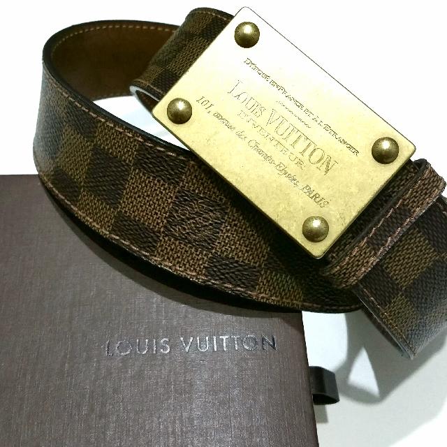 Authentic LOUIS VUITTON Ceinture LV Inventeur 40mm Damier Ebene Canvas  M6810 110cm 44 inch, Luxury, Accessories, Belts on Carousell 2402855e774