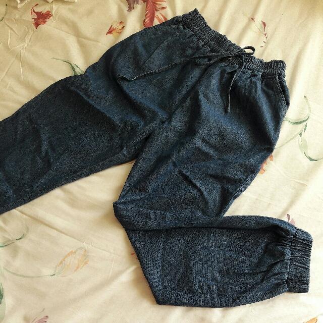 B20 - Denim Jogger Pants