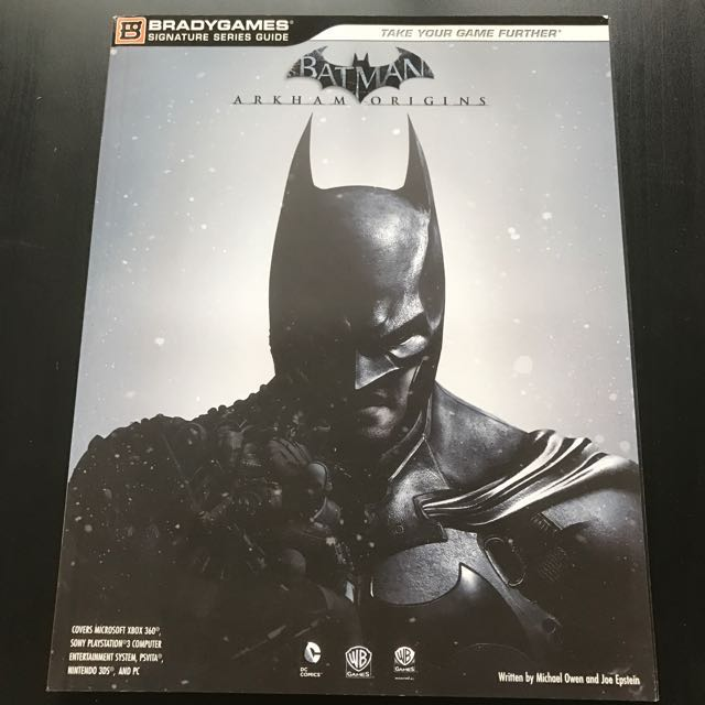 batman arkham origins guide book bradygames toys games video rh sg carousell com Batman Arkham Origins Deathstroke Batman Arkham Asylum